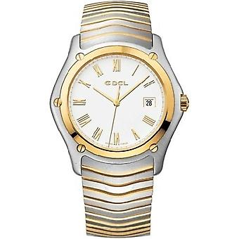 Ebel Classic White Dial Stainless Steel and 18K Yellow Gold Bracelet Men's Watch 1255F51-0225