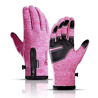 Winter Thermal Fleece Touchscreen Gloves, Cold Weather Fits Men & Women