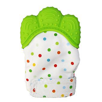 قفازات أضراس الأطفال ، أسنان السيليكون من الدرجة الغذائية ، ألعاب الأضراس الصوتية