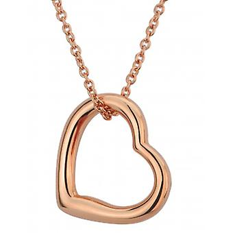 Traveller Heart Pendant With Chain 18kt Rose Gold Plated - 38-44cm - 157266 - 649