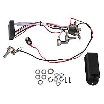 3 Banda Active Bass Circuit Preamp Great Sounding Preamp 5 Controles 9V