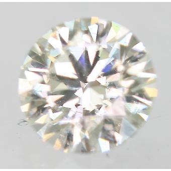 Cert 0.19 Quilates TTL Yellowish Green VVS1 Round Brilliant Natural Diamond 3.8mm
