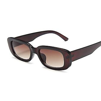 Aurinkolasit naiset ylellinen tuotemerkki pieni suorakulmio aurinkolasit naisten kaltevuus kirkas peili oculos de sol