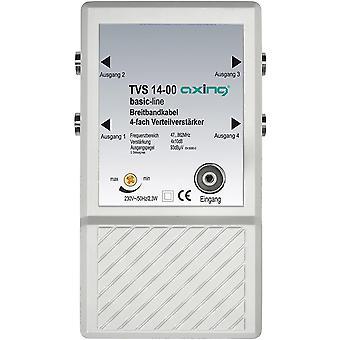 FengChun TVS 14-00 4 fach Verteilverstärker für kleines BK (Kabelfernsehen) und terrestrische Netze