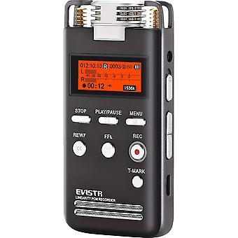 FengChun Digital Voice Recorder 8 GB L53-1536 kbit / s Stereo-Audioaufzeichnungsgerät Tragbare