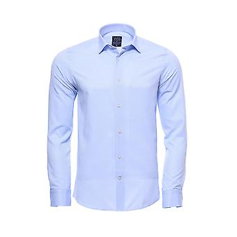 Blue casual patterned shirt | wessi
