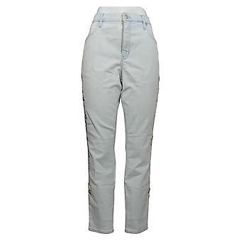 Martha Stewart Mujeres's Jeans Bordado 5 bolsillos Tobillo Azul A309514