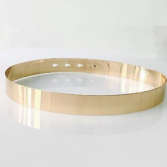 Women Fashion Adjustable Metal Designer Gold Silver Plate Belt