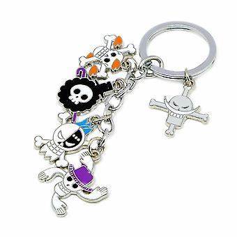 One Piece Luffy Chopper Skull Pendant Keychain Key Ring