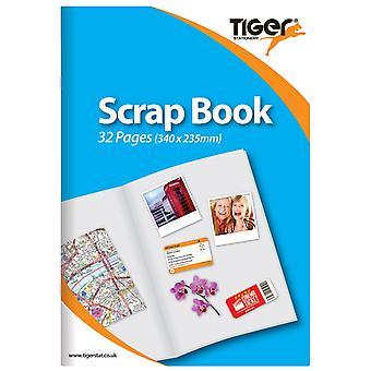Tiger Stationery Scrapbook  (Pack of 12)