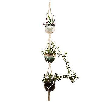 Group3 macrame plant hangers indoor outdoor hanging planter basket jute rope flower pot holder x583