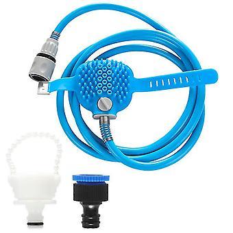 Pet cleaning shower brush, outdoor bathing brush, dog silicone massage shower head az5639