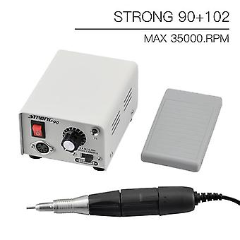 Handle Electric Nail Drill Manicure Machine Nail File Cutter Set|Electric Manicure Drills(White)