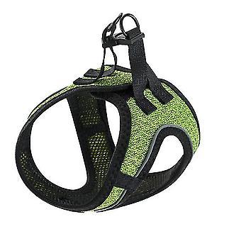 L 36-42cm الأخضر في الهواء الطلق الكلب المقود سترة على غرار الكلب المقود، للصغار والمتوسطة الحجم ال az2995