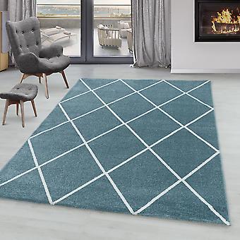 Living room carpet IROH short pile design lozenge modern lines plain colors