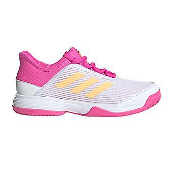 adidas Adizero Club Çocuk Tenis Kort Eğitmen Ayakkabı Pembe / Turuncu