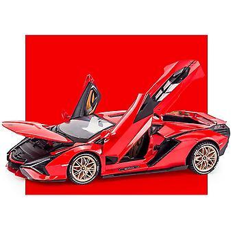 1:18 لامبورغيني البرق 0837 سبيكة نموذج السيارة الرياضية مع الصوت والضوء لهدية الصبي