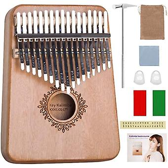 17 Key kalimba thumb piano mahogany musical instrument beginner african kalimba