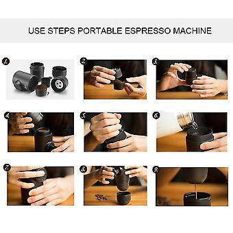 Mini manuelle Hand Druck KaffeeBecher Maker Reise Sport Wandern Kaffeemaschine