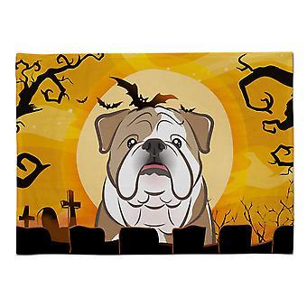 Caroline's Treasures BB1777PLMT Halloween Englisch Bulldog Stoff Tischset, Multicolor