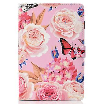 Case For Ipad 9 10.2 2021 Cover With Auto Sleep/wake Pattern Magnetic - Peony