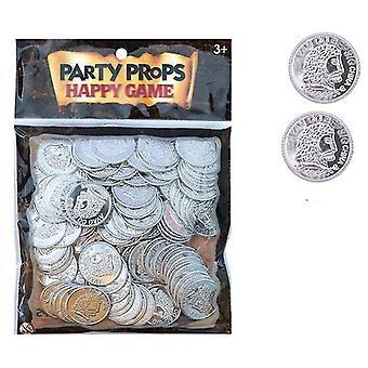 لعب المال المصرفي القراصنة الذهب كنز القطع النقدية البلاستيكية مجموعة للعب