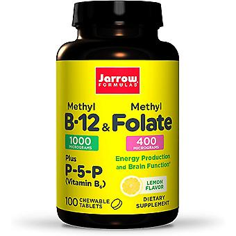 Vitamina B12 Metil metil folato limón sabor 100Loz