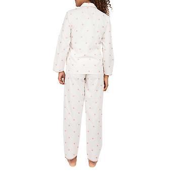 Cyberjammies Nora Rose Audrey 1554 Ensemble Pyjama Brodé Floral Blanc Femme