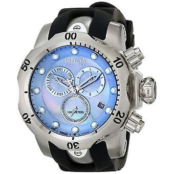 Invicta Venom 6118 roestvrijstaal, polyurethaan chronograaf horloge