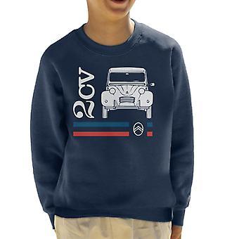 Citroen Vit 2CV Racing Stripes Kid's Sweatshirt