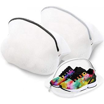 Laundry Net For Shoes With A Zipper 2 Pcs. White