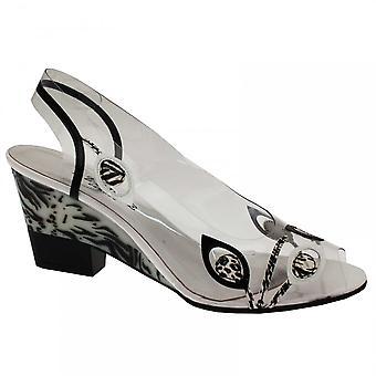 Azuree Women's Perspex Wedge Sandal