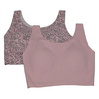 Rhonda Shear 2 Pack Invisible Body Bra With Removable Pads Pink 725693