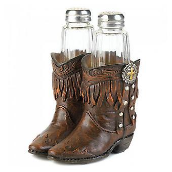 Accent Plus Cowboy Boots Salt & Pepper Set, Pack of 1