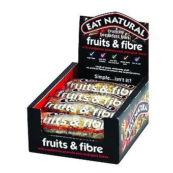 Mangez des fruits et des fibres croustillants naturels pour le petit-déjeuner 50g x12