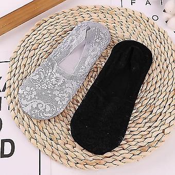 Bottling bottles 2 pairs women girls summer lace socks grey black