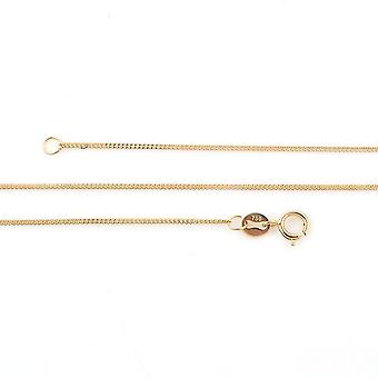 TJC 18K Yellow Gold High Finish Snake Chain Necklace for Wife/Mother Size 18 ''