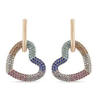 TJC Herz Ohrringe für Frauen Mehrfarbig Kristall 1.3ct