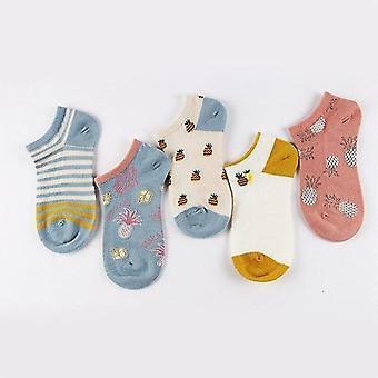 5 paria puuvillaisia kesäjousen sukkia, t-aset (ananastyyli 1)