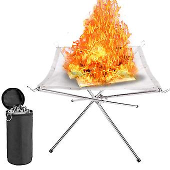 Tragbare Feuerstelle mit Tragetasche