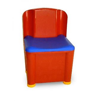 Kinder Lagerung Aktivität Play Stuhl rot und blau