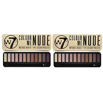 W7 Colour Me Nude Eye Shadow Palette (2-Pack)