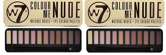W7 Cosmetics W7 Färg mig naken Eye Shadow Palette (2-Pack)