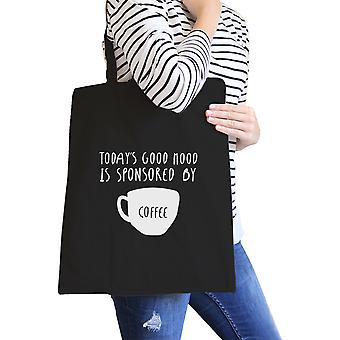 Sponsored By Coffee Black Canvas Bag Cute Gift For Coffee Lover