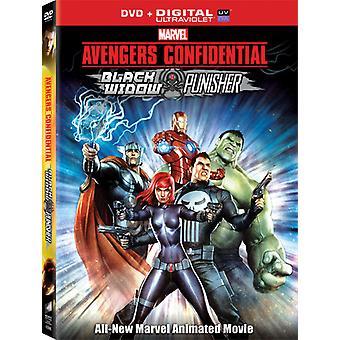 Vingadores confidencial: viúva negra & Punisher [DVD] EUA importar
