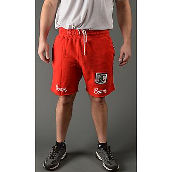 Wortels van strijd Ray Boom Boom Mancini Slim Fit koord Shorts - rood