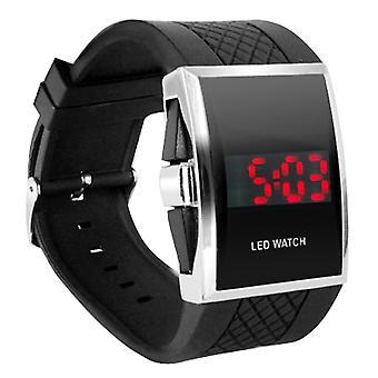 Black LED Digital Wrist Watch Unisex - By DIGIFLEX