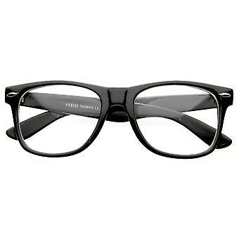 Vintage inspireret Eyewear oprindelige Geek Nerd klar linse Horn kantede briller