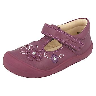 Girls Startrite Flower Detail Flat Shoes First Mia