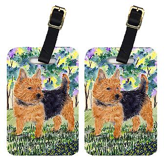 Carolines Treasures  SS8218BT Pair of 2 Norwich Terrier Luggage Tags